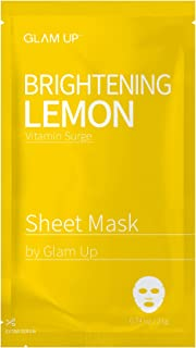 Sheet mask by glam up BTS Brightening Lemon - Revitalize Dull and Uneven Skin Nature made Freshly packed Daily Skin Therapy Original K-Beauty Recipe 1ea