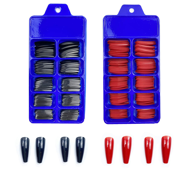 Jmassyang 200 supreme Pieces 2 Boxes Extra Long Nails on Press ...