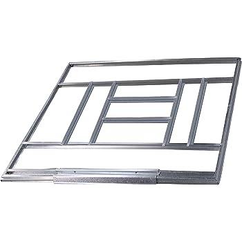 Gardiun KIS14007 - Estructura metálica para preinstalación de suelo casetas de 7, 74 m2 - 3, 11 x 2, 31 cm: Amazon.es: Jardín