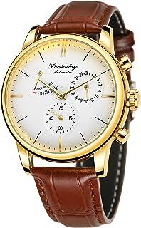 Forsining Men's Automatic Power Reserve Watch Calendar Genuine Leather Strap Watch
