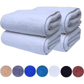 600gsm Egyptian Cotton Towel Set Hotel Quality White Bath Towels Set of 2 75 X 145 cm