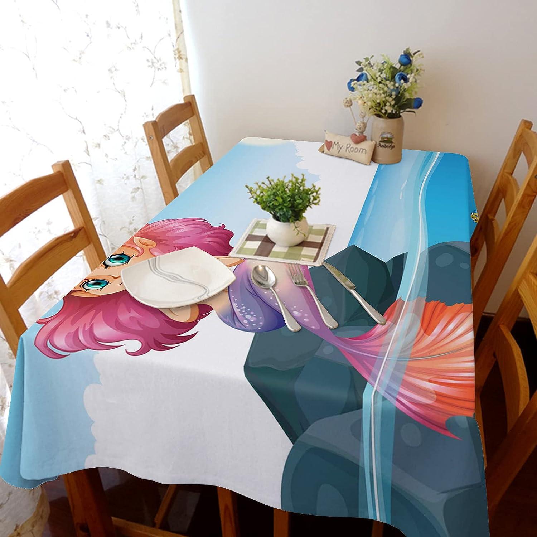 TH XHome Bargain Tablecloth Linen Burlap Kansas City Mall Fabric Fish Cartoon Weights Re