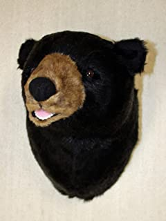 Plush Black Bear Head