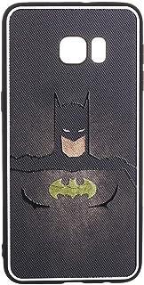 جراب خلفي ثلاثي الابعاد بأحرف سيليكون وطبعة باتمان لموبايل سامسونج جالاكسي S6 ايدج بلس من بوتر - متعدد الالوان