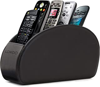 Londo - Soporte para Mando a Distancia con 5 Bolsillos Espacio para DVD BLU-Ray TV Roku o Apple TV Piel con Forro de ...