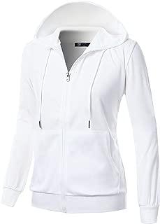 womens black hoodie with white zipper