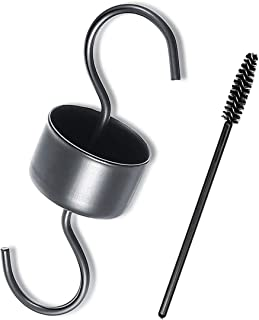 AZLAND Insect Ant Moat Guard Trap for Hummingbird Feeders Accessory Hooks (1 Hook + 1 Brush)