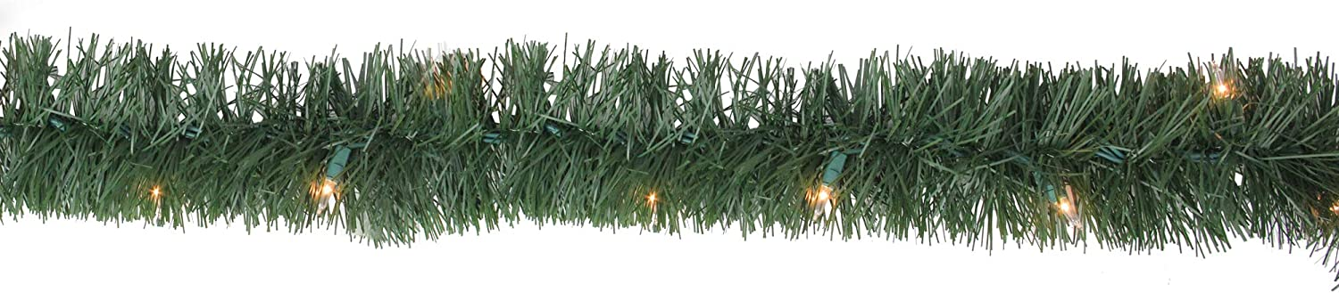 18' Pre-Lit Green Pine Max 46% OFF High order Artificial Christmas - Clear 50 L Garland