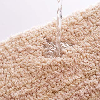 Bathroom Rugs 24x16 Camel Bath Mats Silver Shower Shaggy Floors Extra Thick Super Soft Best Absorbent Perfect Absorbant Plush Machine Washable Door Mat Dry Carpet Gentsing