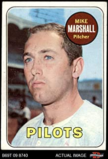 1969 Topps # 17 Mike Marshall Seattle Pilots (Baseball Card) Dean's Cards 3 - VG Pilots