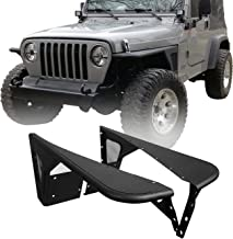 Hooke Road Jeep TJ Flat Fender Flares Front Steel Armor Wheel Cover Guards for 1997-2006 Jeep Wrangler TJ(2PCS)