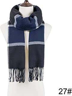 Scarf Plaid Warm Scarf For Women Wool Scarves Casual Scarfs Cashmere Female Shawl Wrap Blanket