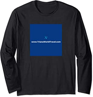 Triana World Travel company logo for marketing materials Long Sleeve T-Shirt