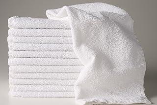 12 New White 22x44 100% Cotton Terry Bath/salon 6.15# Dozen Gym Towels Unused By Omni Linens