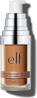 e.l.f. Cosmetics Beautifully Bare Foundation Serum for Radiant Skin, SPF 25, Medium/Dark, 0.47 Fluid Ounces