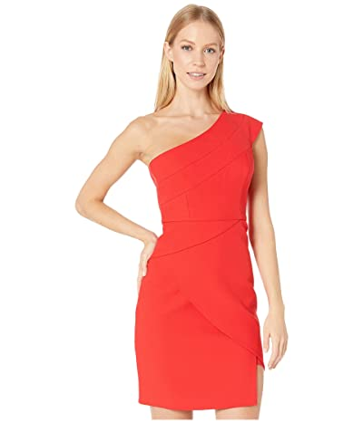 BCBGMAXAZRIA One Shoulder Cocktail Dress (Jewel Red) Women