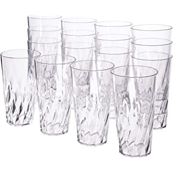 Palmetto 20-ounce Clear Plastic Tumblers   set of 16