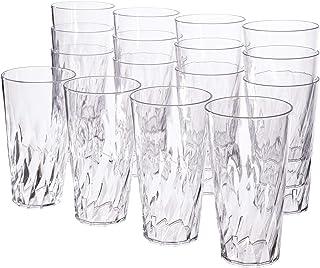 أكواب من البلاستيك الشفاف بسعة 591 مل من بالميتو | مجموعة من 16 قطعة