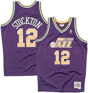 Mitchell & Ness Utah Jazz John Stockton 1991 Throwback Swingman Jersey Purple