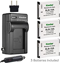 Kastar Battery (X3) & Travel Charger Kit for Samsung SLB-10A, EA-SLB10A and Samsung EX2F HZ15W SL202 SL420 SL620 SL820 WB150F WB250 WB250F WB350F WB750 W800 WB800F WB850F WB1100F Digital Camera + More