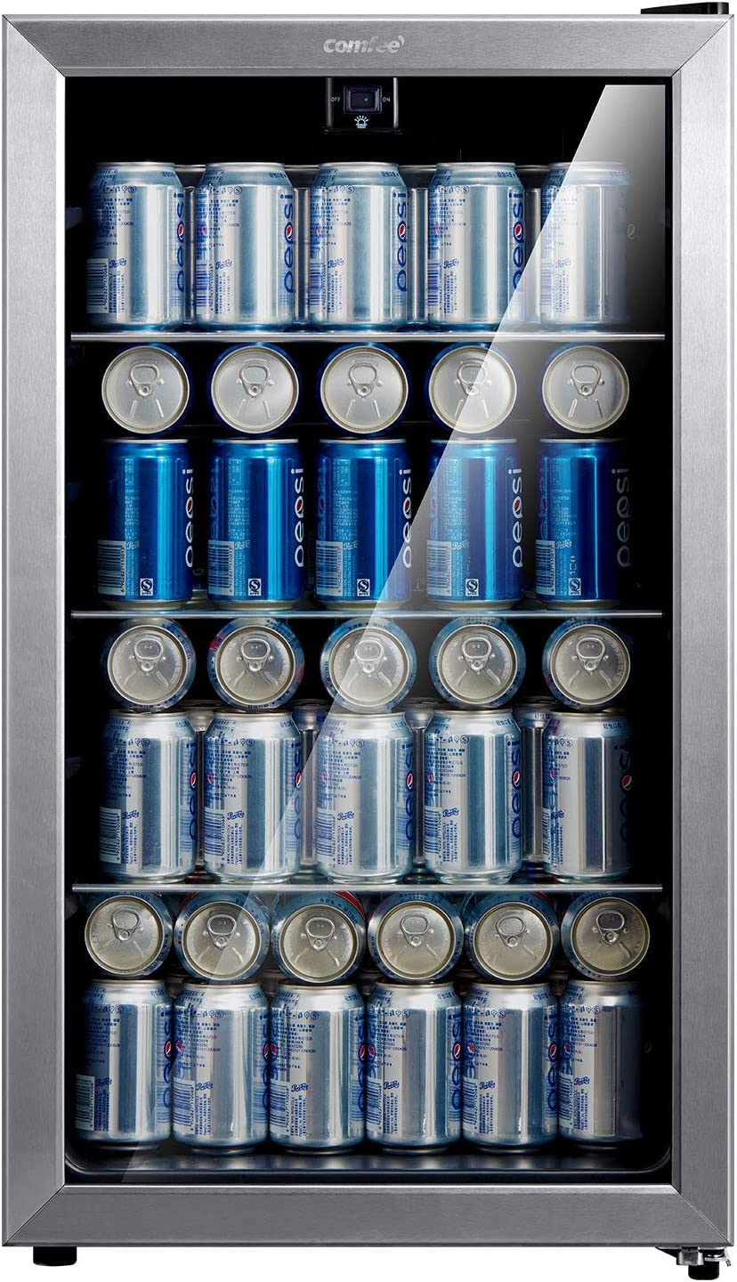 Comfee 115-120 Fashion depot Can Beverage Cooler Refrigerator capaci 115 cans