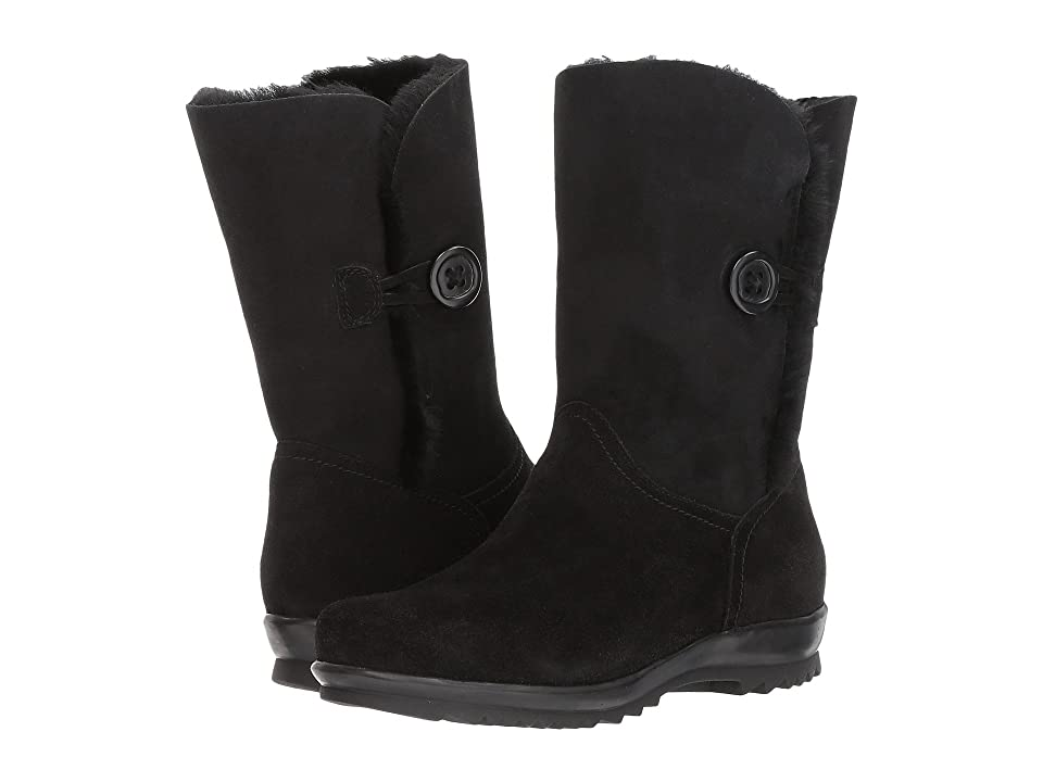 La Canadienne Tessie (Black Suede/Shearling) Women