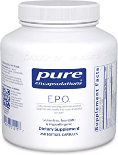 Pure Encapsulations - E.P.O. (Evening Primrose Oil) - Hypoallergenic Dietary Supplement Containing 9% GLA - 250 Softgel Capsules
