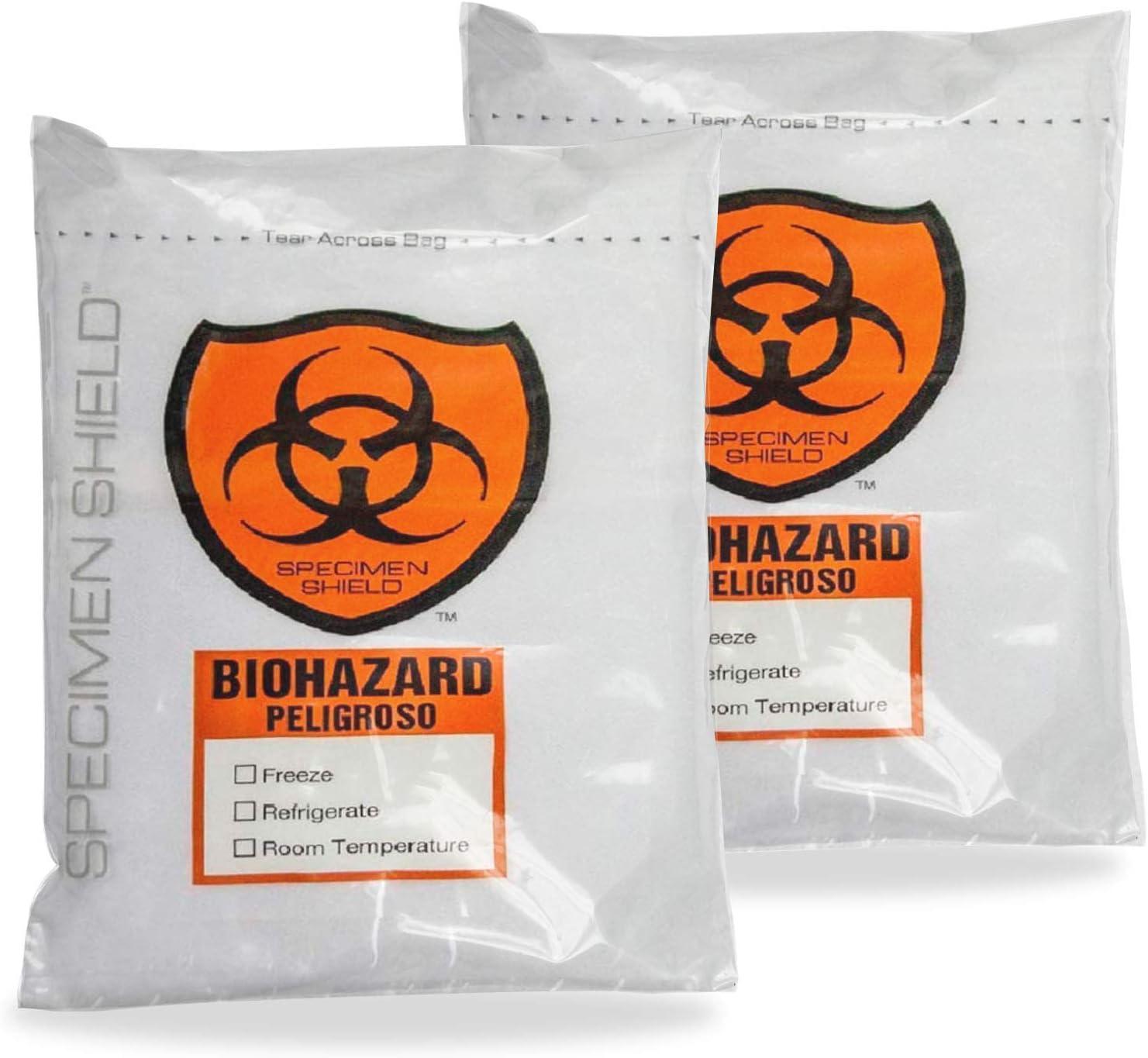 gift 100% quality warranty! APQ Pack of 2000 Biohazard 3 Wall Specimen Zipper Bags 8 B 10. x