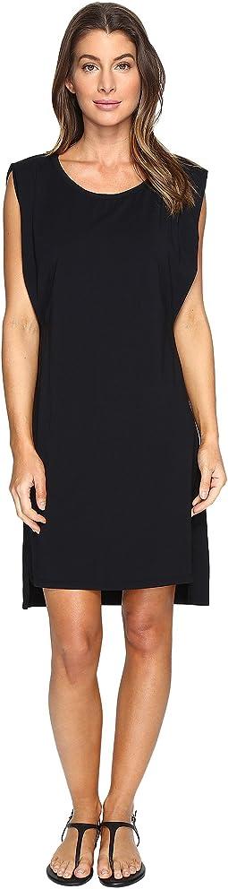 Cotton Modal Spandex Jersey Effortless Pleated Tank Dress