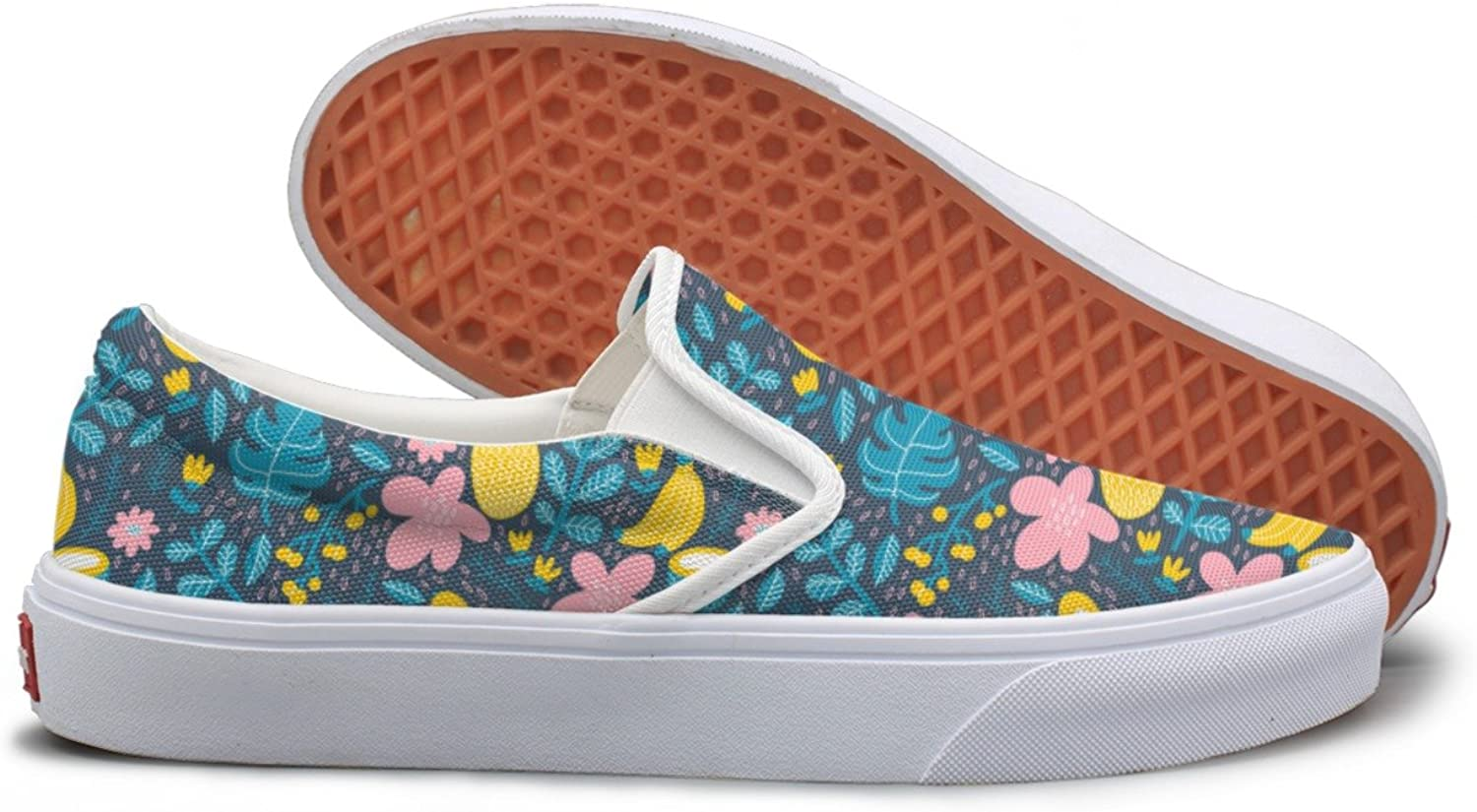 SEERTED Exotic Tropical Fruits Casual Sneakers for Women Wide Width