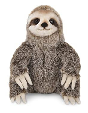 Bearington Simon Plush Three Toed Sloth Stuffed Animal, 10 inches