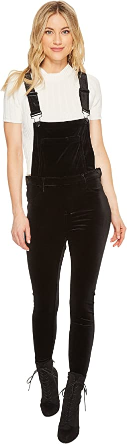 Blank NYC - Velvet Overalls in The New Black