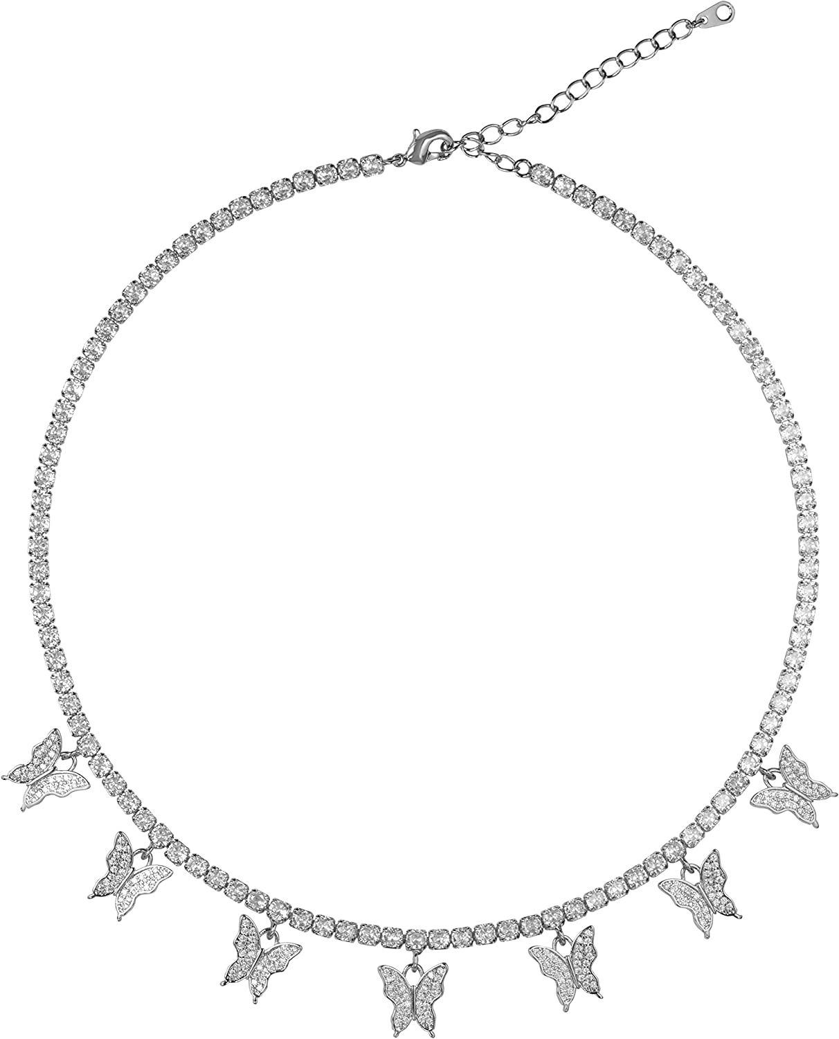 LAVLA Dainty Max 65% OFF Butterfly Choker Necklace Rose Gold Silver Louisville-Jefferson County Mall - P