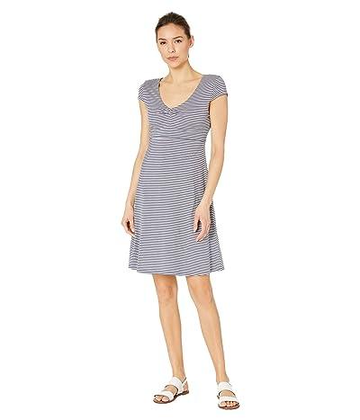 Toad&Co Rosemarie Dress (True Navy Stripe) Women