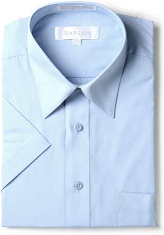 Marquis Men's Short Sleeve Regular Fit Dress Shirt - S to 4XL