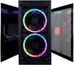 CUK Stratos Mini Gaming PC (Liquid Cooled Intel Core i9-9900K, NVIDIA GeForce RTX 2080 Ti, 32GB RAM, 1TB NVMe SSD + 1TB SSD, 650W Gold PSU, Z390I Motherboard) Best Tiny RGB Desktop Computer for Gamers