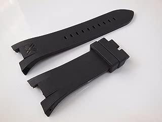 Black Rubber Diver Watch Strap Band For Exchange AX1042 AX1050 AX1114 AX1182 A1183 AX1184 AX1185 AX5018
