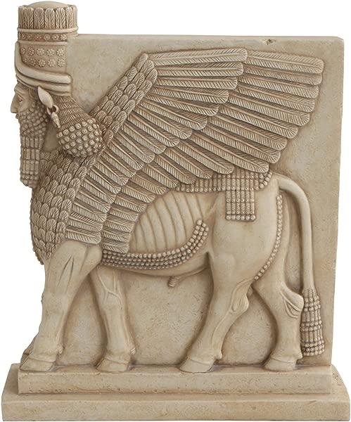 Culture Spot Assyrian Lamassu Winged Bull Statue 10 Inches