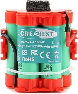 Creabest para Robot Cortador de Césped Husqvarna Automower 105 305 308 Reemplazo Batería de Li-ion de 18V 2500mAh Sustituy...