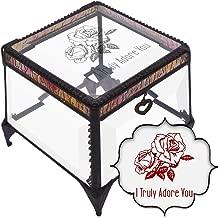 Vencer I Truly Adore You,Engraved Glass Keepsake Decorative Art Box, Valentine's Day Valentine's Gift
