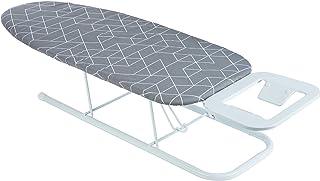 ONVAYA Table à repasser | Mini table à repasser | Table à repasser | Petite table à repasser peu encombrante (gris motif)