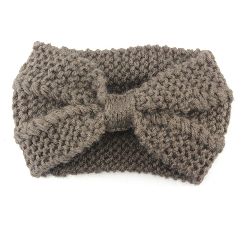 BBZUI Summer Women Knit Headband Crochet Winter Warmer Hairband Hair Band Headwrap KHOutdoor Spring Fashion (Khaki)