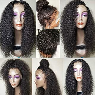 FASHION PLUS Full Lace Wigs 150% Density Curly Human Hair Wigs Pre Plucked Hairline with Baby Hair Deep Curly Full Lace Human Wigs Natural Color