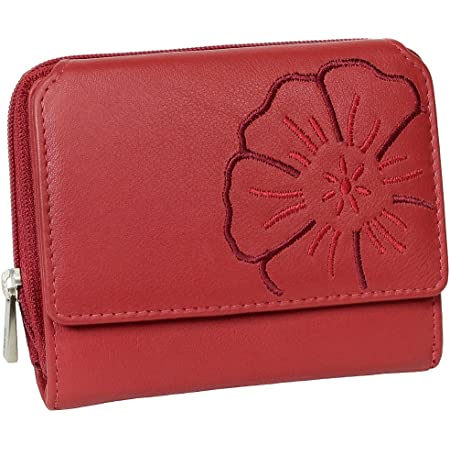 Branco Leder Geldbörse Portemonnaie Damenbörse Damen Geldbeutel Rot - sehr hochwertig