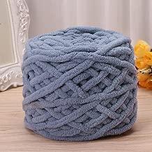 Amrka 100g/1ball Soft Cotton Hand Knitting Yarn Super Chunky Bulky Woven Worested Yarn for Crochet (Gray)
