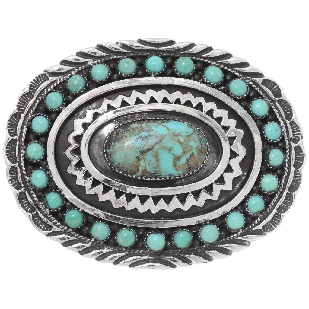 Max 57% OFF Natural Kingman Turquoise Belt 2021new shipping free shipping Buckle Desi Cluster Silver Navajo