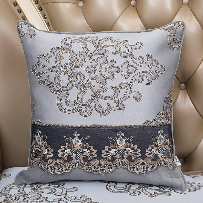 Pillow Sofa Pillow Cushion Lace Side Luxury Backrest Bed Large Pillow with Core Pillow QYSZYG (color   B, Size   60CM60CM)