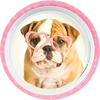 BirthdayExpress Rachael Hale Glamour Dogs Party Supplies - Dinner Plates (8)