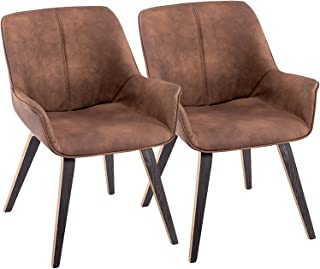 Amazon Com Living Room Chairs Brown Leather Chairs Living Room Furniture Home Kitchen
