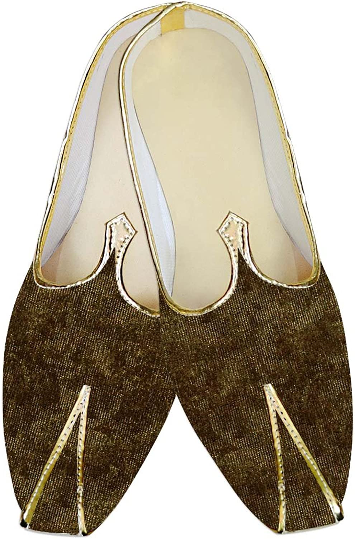 INMONARCH Mens Olive Drab Jute Velvet Wedding shoes MJ09371